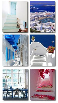 This Greek color scheme give a very tranquil feeling.