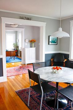 I love all of the wall colors of this house tour.  There's a list of colors on the link.