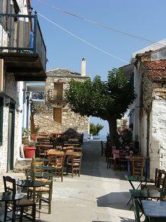 Alley in Alonissos island, Greece Wonderful Places, Great Places, Places To Go, Beautiful Places, Myconos, Skiathos, Greek Isles, Greece Islands, Greece Travel