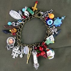 DIY Day of the Dead Charm Bracelet Kit  Make this by SilverCrow, $39.97