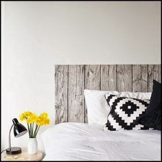 Headboard From Wood Design Fabric