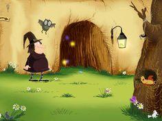 """Dans cette histoire originale, vous allez découvrir l'étrange aventure en 3D d'une sorcière qui a perdu son nom. """"Ce matin, elle a reçu un colis qui devrait l'aider : la toute dernière boule de cristal """"Kivoitou."""" Avec la participation active du lecteur et l'aide de sa petite chauve-souris, elle va essayer de retrouver son nom... A retrouver chez les tout-petits."""