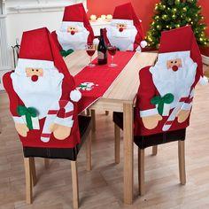 decoracion navideña de sillas