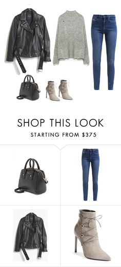 """""""Sans titre #7326"""" by youngx ❤ liked on Polyvore featuring Furla, Calvin Klein, Madewell, Yves Saint Laurent and Gola"""