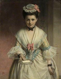 """For you, miss"" - John Robert Dicksee (1817-1905)"