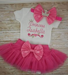 Baby girl coming home outfit newborn girl take by LittleQTCouture