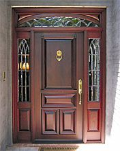 Estate Exterior Wood Front Entry Doors DbyD-1081