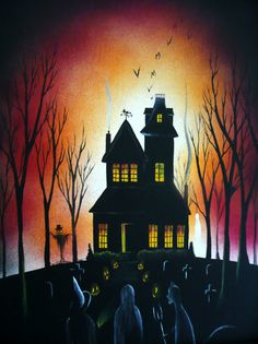 Spooky House Painting