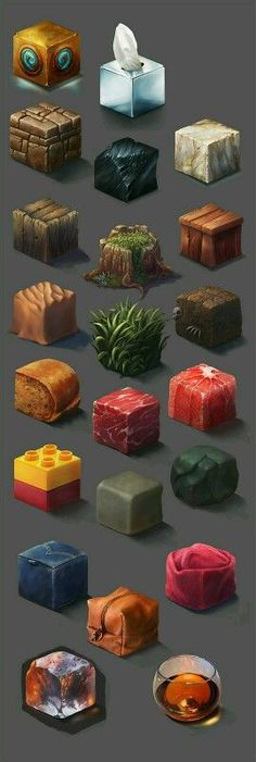 A unique way of creating and learning materials - Material Study, Ayhan Aydogan Digital Painting Tutorials, Art Tutorials, Digital Paintings, Game Design, Paint Photoshop, Doodle Drawing, Game Textures, Isometric Art, Hand Painted Textures