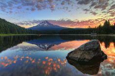 Trillium Lake by Cody Wilson - an amazing shot.