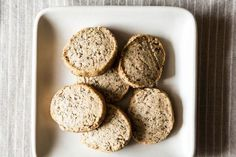 Vanilla Rooibos Tea Cookies - so making these to serve this year at our Christmas Cookie Exchange. The recipe author has you toast Rooibos leaves until they're beautifully fragrant -- this perfumes your kitchen (and your cookies) from the very first step of this recipe. Click on the photo to get the directions.