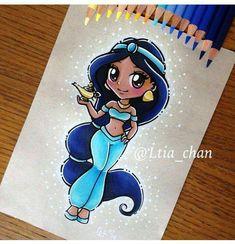 Disney Pencil Drawing - Mara E. Kawaii Disney, Chibi Disney, Cute Disney, Disney Girls, Disney And Dreamworks, Disney Pencil Drawings, Disney Princess Drawings, Disney Princess Art, Disney Sketches