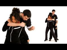 Learn how to escape a back choke hold in this self-defense video from Howcast. Techniques D'autodéfense, Self Defense Techniques, Self Defense Moves, Self Defense Martial Arts, Bruce Lee, Mma, Self Defence, Damsel In Defense, Learn Krav Maga
