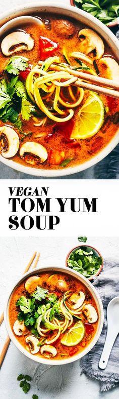 Vegan Tom Yum Soup #vegan #glutenfree #plantbased