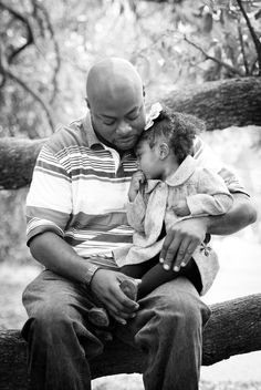 sweet father and daughter