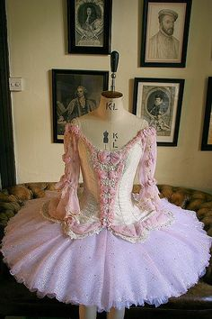 Beautiful Tutu for the White Cat in Sleeping Beauty.