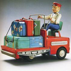 1950's Baggage Truck - Masudaya - Vintage Toy