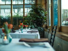 Atrium Dining Room at Cafe Flora, vegetarian and vegan restaurant in Seattle