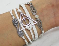 Bracelets InfinityWings & Deathly Hallows Charm by lifesunshine, $5.99