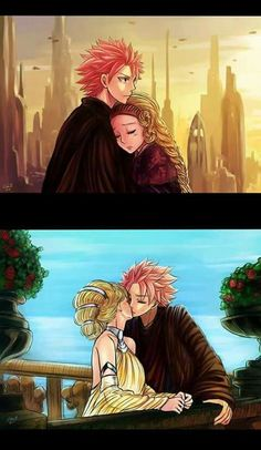 Fairy tail Natsu and Lucy crossover with Star Wars Anakin and Padme