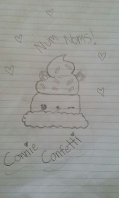 this is my drawing of connie confetti!