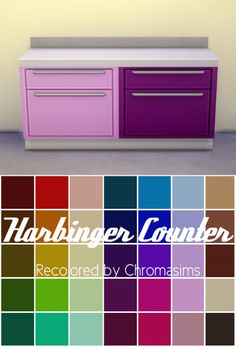 The Harbinger Counter at Chromasims via Sims 4 Updates Sims 4 Mm Cc, Sims 1, Sims 4 Cc Furniture, Pink Furniture, Sims 4 Kitchen, Maxis, Sims 4 Toddler, Botanical Decor, The Sims 4 Download