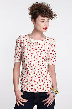This shirt could get me into a pair of jeans. Stone Fruit Sweater Tee #anthropologie