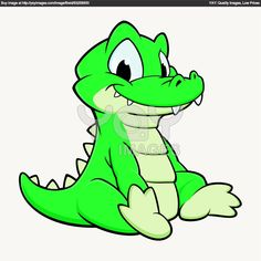Cartoon Tattoos, Cartoon Drawings, Trippy Drawings, Animal Sketches, Animal Drawings, Crocodile Cartoon, Embroidery Designs, Baby Alligator, Inkscape Tutorials