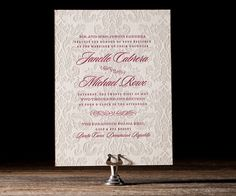 These classic letterpress invitations from designer Racheal Bumbolo are no dream — just good old-fashioned letterpress printing mixed with a refined and timelessly glamourous design.