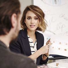 @JessicaAlba is putting the finishing touches on #HonestBeauty. Who's ready? www.honestbeauty.com