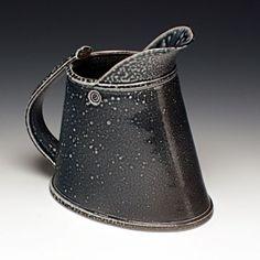 Walter Keeler, UK's leading salt-fire ceramist, oval jug