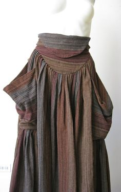 Had this!!! and  I got it at MARSHALL'S in 1983! >>> Vintage 1980s Brown Norma Kamali High Waisted Boho Skirt