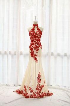 Halter Appliques Long Prom Dress Evening Dress SD08 – Simibridaldress