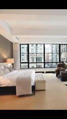 City view in bedroom