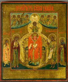 """Sophia Wisdom of God"" - Late 19th Century Russian Icon"