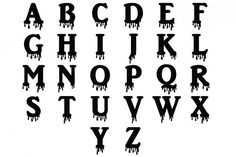 Dripping Letters SVG, Dripping Alphabet SVG Cut Files Silhouette Cameo and Cricut, Letters Halloween SVG, Bloody Alphabet, Letters Clipart for Personal & Cool Alphabet Letters, Alphabet Stencils, Monogram Letters, Dripping Letters, Dripping Paint, Cool Fonts To Draw, Graffiti Alphabet Styles, Bubble Drawing, Stencil Wall Art
