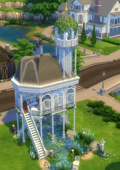 Sims 4 Updates: Mod The Sims - Houses and Lots, Residential Lots : The Sylvan Pavilion by Velouriah, Custom Content Download!
