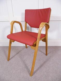 Vintage retro bentply lamstak ESA armchair 1948 reupholstered seats James Leonard