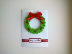Make a Beautiful Christmas Card with a Wreath