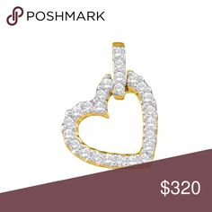 14k Yellow Gold Natural 💎 Heart Pendant 1/4 Cttw 14k Yellow Gold Round Pave-set Natural Diamond Womens Small Dangling Heart Pendant 1/4 Cttw  Product Specification Gold Purity & Color14kt Yellow Gold Diamond Carat1/4 Ct.t.w. Diamond Clarity / ColorI1-I2 / H-I Length15 mm ( .59 inches ) Width12 mm ( .47 inches ) Gram Weight.86 grams (approx.) StyleHearts & Love Item NumberLarimaro -28422 Jewelry
