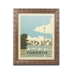 Toronto, Canada by Anderson Design Group Framed Graphic Art