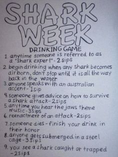 Shark Week Drinking Game To Be Practiced During Re-runs
