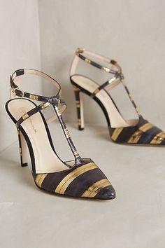 Guilhermina Brushed Stripe Heels - anthropologie.com #anthrofave