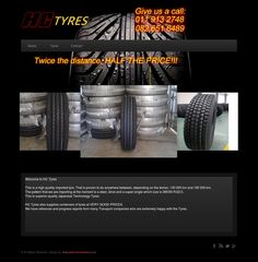 A Website designed for a tyre suppliers