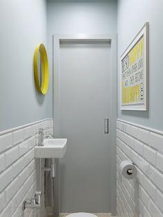Decorando com a Si : BBB: banheiros bonitos e baratos Wc Bathroom, Bathroom Toilets, Bathroom Interior, Home Interior, Interior Design Living Room, Small Bathroom, Small Toilet Room, Downstairs Toilet, Toilet Design