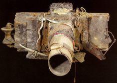 Miroslav Tichy homemade cameras often using tin cans and cardboard.