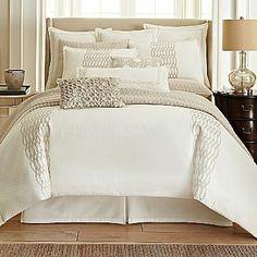 Royal Velvet Crestmore 4-pc. Comforter Set & Accessories - home and bedding (light ivory bedroom decor)