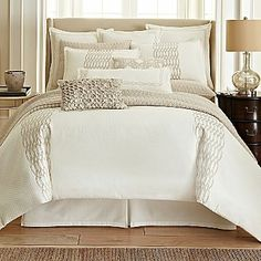 Royal Velvet Crestmore 4-pc. Comforter Set & Accessories - home and bedding (light ivory bedroom decor)