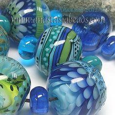 "Anastasia Lampwork Beads 7 ""Neptunes Garden"" SRA   eBay  http://www.ebay.com/itm/261138495467?ssPageName=STRK:MESELX:IT&_trksid=p3984.m1555.l2649"