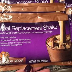 Advocare Chocolate Mocha Meal Replacement Me a replacement protein shake.  In easy on the go packets.  Just grab and go!  Yummy flavor. 12 packets. Advocare Other